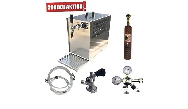 Enfriador de Cerveza, cerveza 60 L/h, Juego Completo por favor Keg Zapf de marcación: Plano De Zapf cabeza, CO2 Botella 6,0 kg CO2, Schank grifo: Schank ...