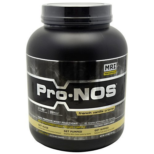 MRI Pro-NOS Multi-Fractionated Whey Isolate Complex French Vanilla Creme - 3 lbs by (Mri Pro Nos)