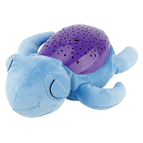 Tracfy LED Plush Stuffed Animal Toys Projector Baby Sleep Night Light Soothers Music Sky Star Lamp Toys For Baby Kids, Turtle