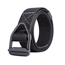 MIJIU Nylon Fabric Woven Belt Military Tactical Belt With Allloy V-ring Buckle