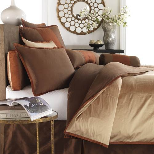 MysticHome Sienna Duvet Cover, Queen, Mocha/Tan/Brown - Sienna Duvet Cover