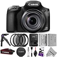 Canon PowerShot SX60 HS Digital Camera w/ Essential Photo Bundle – Includes: Altura Photo UV-CPL-ND4, 67mm Lens Adapter Ring, NB-10L Replacement Battery, Camera Cleaning Set