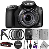 Canon PowerShot SX60 HS Digital Camera w/ Essential Bundle – Includes: Altura Photo UV-CPL-ND4, 67mm Lens Adapter Ring, Vivitar NB-10L Replacement Battery, Camera Cleaning Set