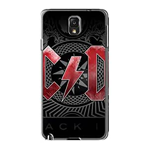 Protector Hard Phone Case For Samsung Galaxy Note3 With Provide Private Custom Lifelike Ac Dc Band Pattern ErleneRobinson