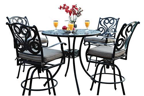 CBM Outdoor Patio Furniture 5 Piece Aluminum 48