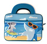 leap pad ultra protective case - LeapFrog Epic LeapPad Platinum Ultimate Ultra XDI Kids Tablet Portable Travel Activity Carrying Neoprene Case Sleeve Bag Tote with Dual Handles Zipper Accessory Pocket 10 inch (Shark)