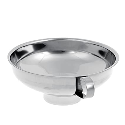 Heavy-duty Stainless Steel Wide Mouth Canning Funnel Hopper Filter Kitchen Tools