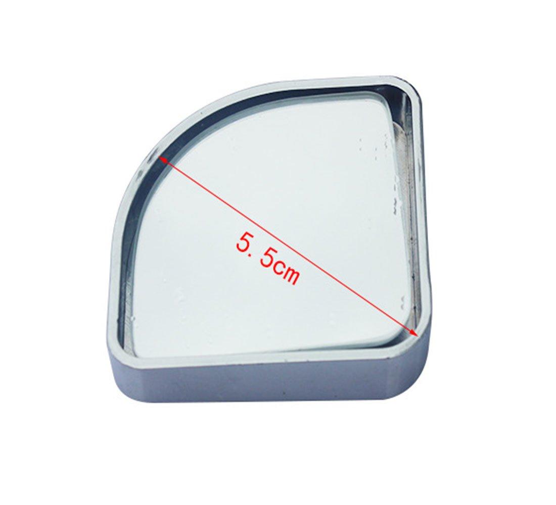 verstellbar breit Sektor Blinder Punkt-Spiegel SPIEGEL Kleiner runder Spiegel Auto kleiner runder Spiegel Weitwinkelobjektiv Hilfsspiegel Silber