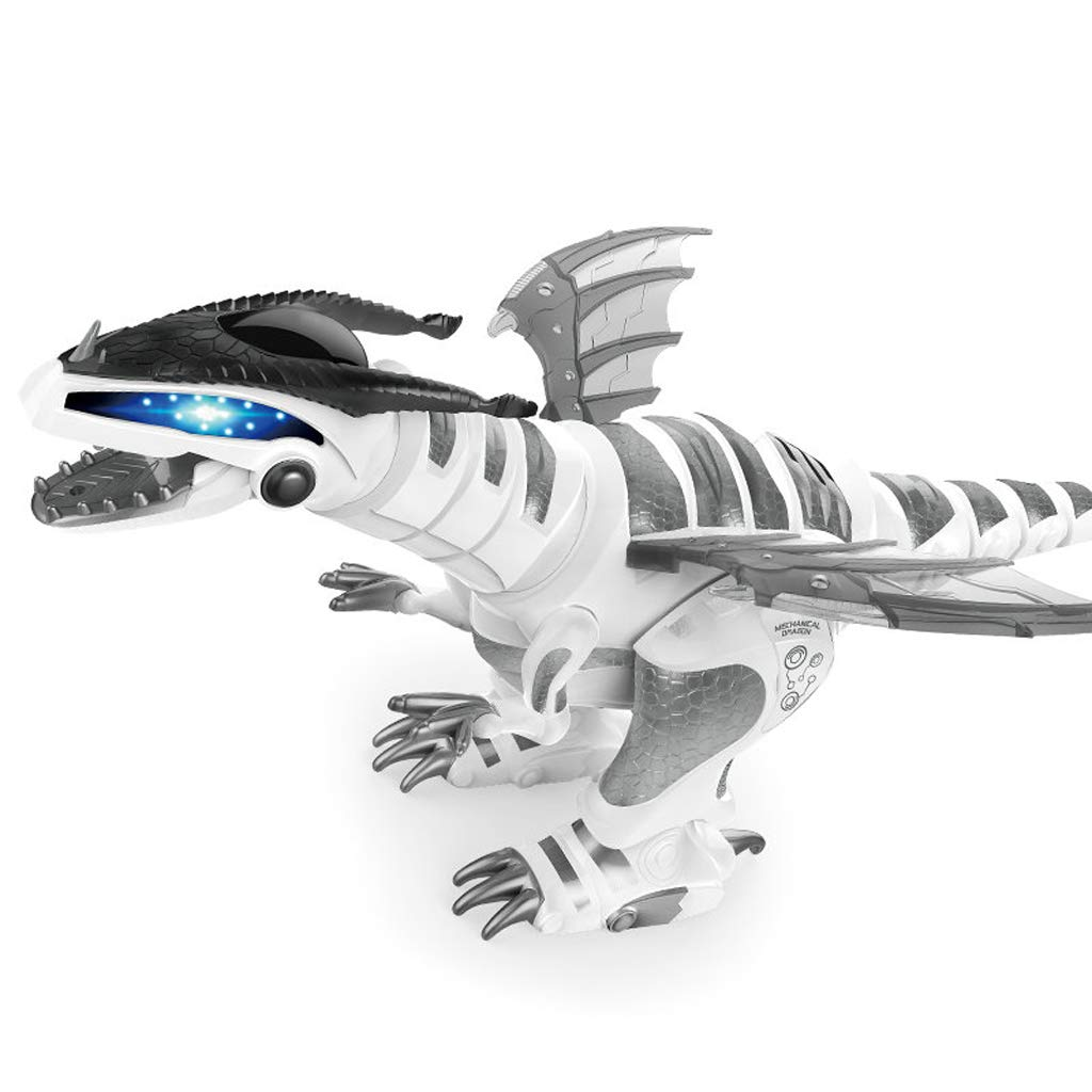 WSWJJXB Intelligenter digitaler mechanischer Dinosaurier, der die Spielwaren der Puzzlespieljungenkinder singt und Tanzt