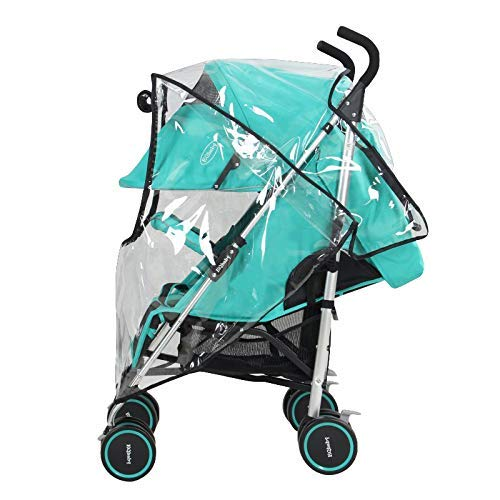 Baby Stroller Rain Cover, Weather Stroller Cover, Shield Waterproof Umbrella Plastic Stroller Wind Dust Shield Cover for Strollers, Universal Size, Waterproof, Windproof,Clear ...