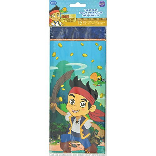 Wilton 1912-5324 16 Count Disney Jake and The Never Land Pirates Treat Bags
