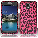 [Windowcell] Hard Case for for Samsung Galaxy S4 Active I537 I9295 (At&t) Rubberized Design Cover - Pink Leopard