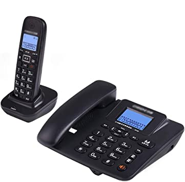 Uioy Teléfono, teléfono inalámbrico Digital, teléfono Fijo inalámbrico Inteligente Fijo (Color : Black, Style : 1): Amazon.es: Electrónica