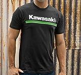 Kawasaki 3 Green Lines Short Sleeve T-Shirt Black Large