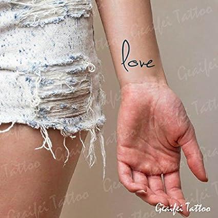 Zokey impermeable tatuaje temporal cartas de amor de el arte del ...