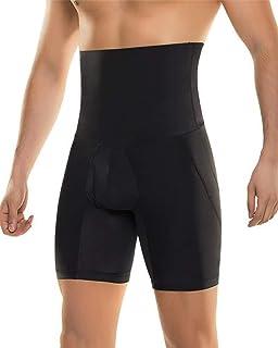 03141a68257 TOPMELON Culotte Gainante Ventre Plat Homme Taille Haute Amincissante Noir  Gaine Push Up Boxer Extensible Sculptante
