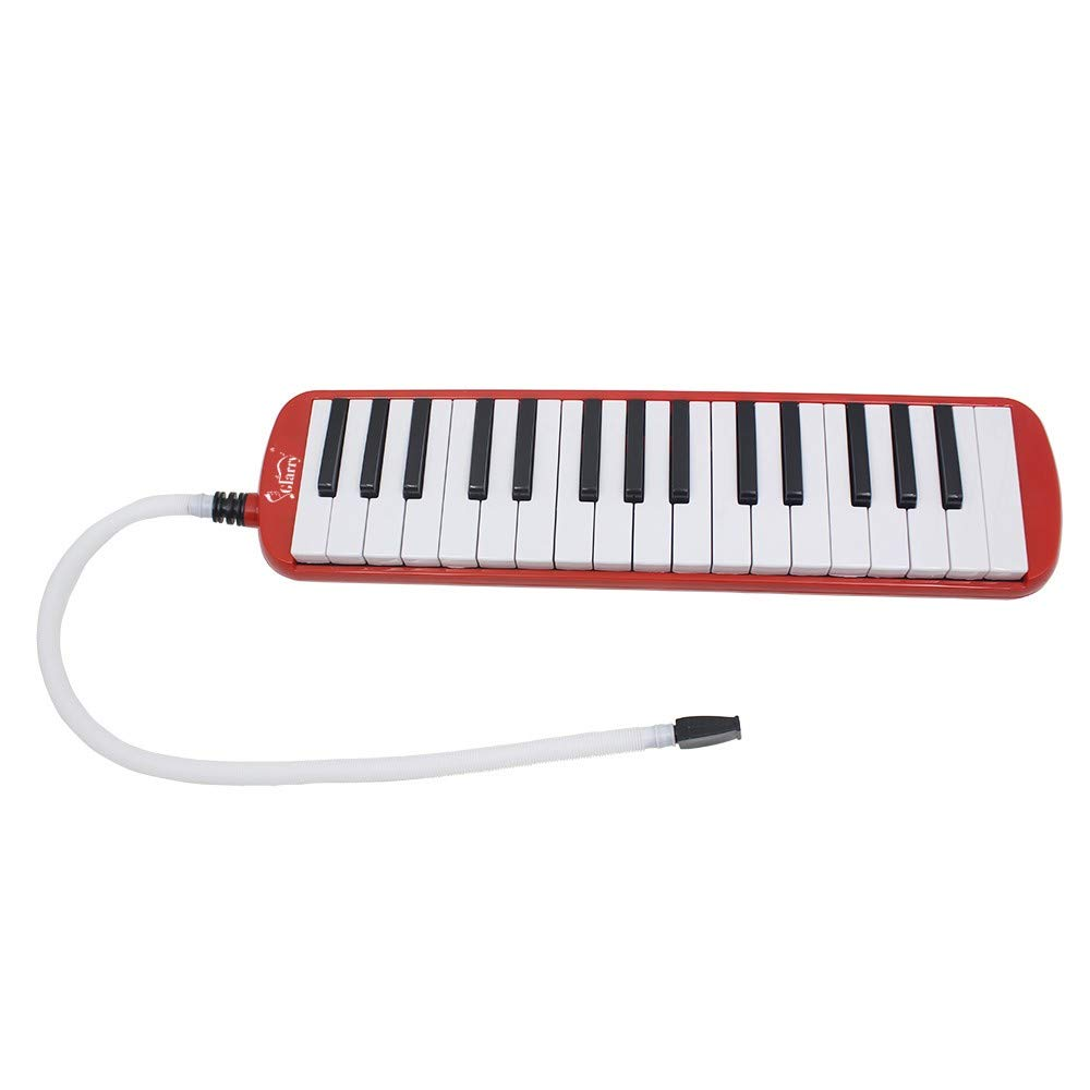 A-WD Glarry 32-Key Melodica with Mouthpiece & Hose & Bag Red by A-WD