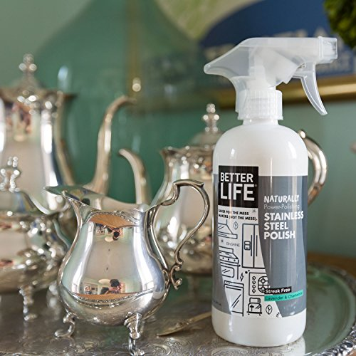 Better Life Natural Streak Free Stainless Steel Polish, Lavender and Chamomile, 16 Ounces, 24185
