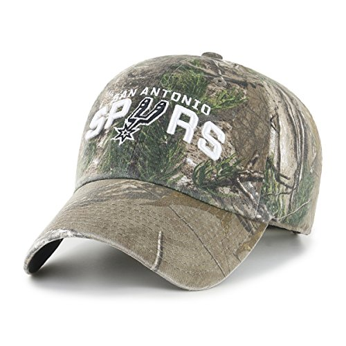 NBA San Antonio Spurs Realtree OTS Challenger Adjustable Hat, Realtree Camo, One Size