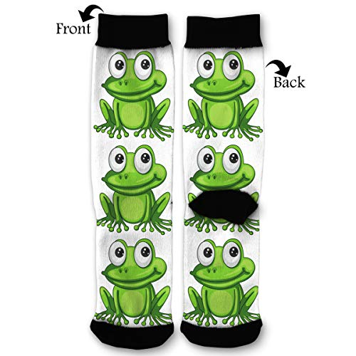 - Packsjap Cartoon Frog Men & Women Casual Cool Cute Crazy Funny Athletic Sport Colorful Fancy Novelty Graphic Crew Tube Socks