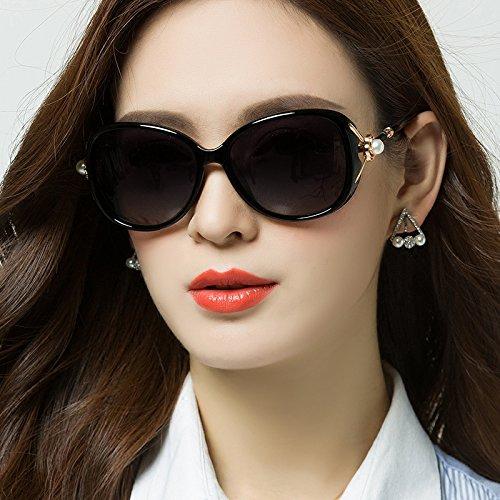 Sunyan Le nouveau visage rond lunettes, lunettes de soleil femme tide avec les stars de la courte vue des verres et faire face à la rouge, violet dégradé
