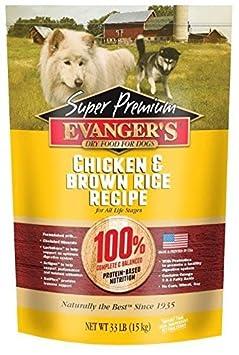 Evanger s Super Premium Dog Food Chicken with Brown Rice 33 lbs