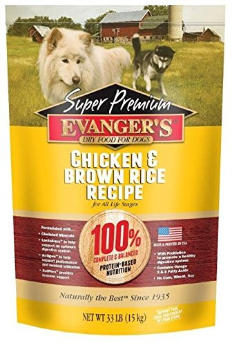 Evanger's Super Premium Dog Food Chicken with Brown Rice 33 lbs