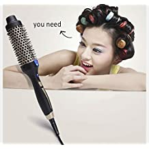 2016 HOT Electric hair ceramic brush air ionic professional curling iron hair curler comb Salon products brush styling tools