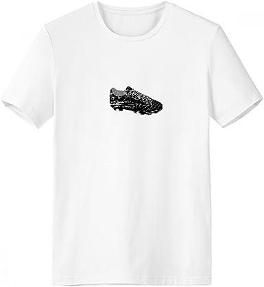 DIYthinker Fútbol negro zapatos del modelo de fútbol con cuello redondo de la camiseta blanca de manga corta Comfort Deportes camisetas de regalos - Multi - XL: Amazon.es: Ropa y accesorios