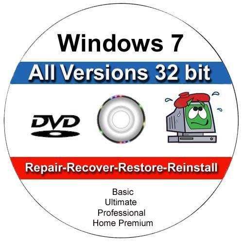Windows 7 All Versions 32 bit Professional, Home Premium,...