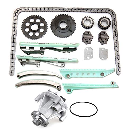 SCITOO TK6046 Timing Chain Water Pump fits for 1997-2000 Ford Expedition 4.6L SOHC VIN 6