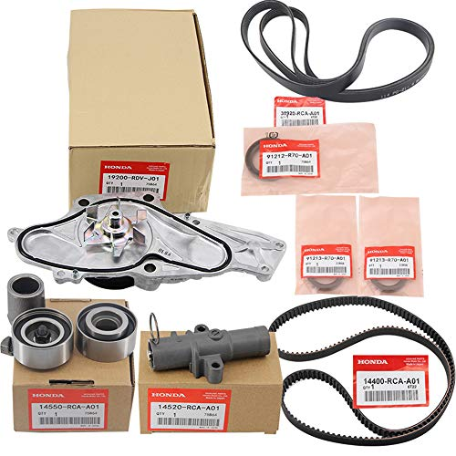 XYGGOO 9PCS for Honda Timing Belt & Water Pump Kit for Honda/Acura V6 2003-2014