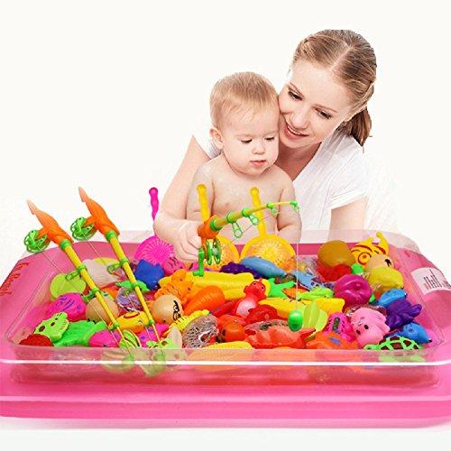 40 stks/partij Met Opblaasbare zwembad Magnetische Vissen Speelgoed Staaf Netto Set Voor Kids Kind Model Spelen Vissen Games Outdoor Speelgoed