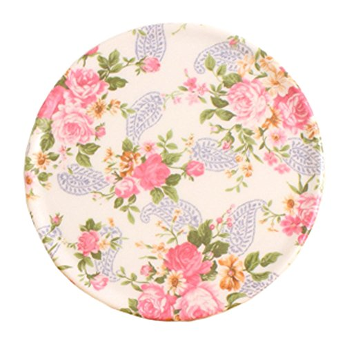 4PCS Vintage Style Cup Mats Plate Coasters Saucer Drinks Holder Tray, Flowers