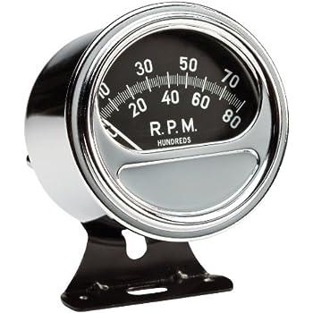 sunpro fz88r 3 3 8 retro tachometer automotive. Black Bedroom Furniture Sets. Home Design Ideas