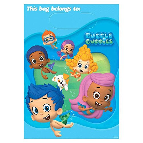 Price comparison product image Bubble Guppies Treat Bags, Pack of 8, Party Supplies