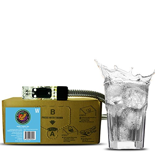 India Super Dry Craft Tonic Water (3 Gallon Bag-in-Box Syrup Concentrate) - Box Pours 18 Gallons of Tonic Water - Use with Bar Gun, Soda Fountain or SodaStream