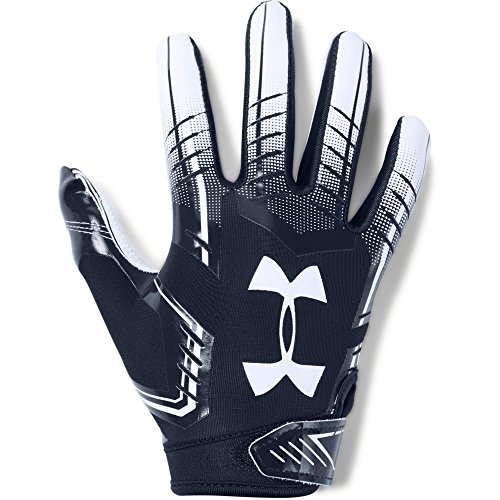 Kids Navy Football - Under Armour Boys' F6 Youth Football Gloves, Midnight Navy (410)/White, Youth Small