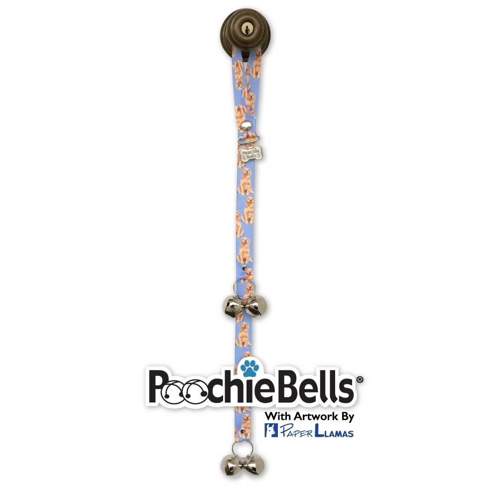 PoochieBells The Original and Trusted Dog Doorbell Communication Tool,Golden Retriever