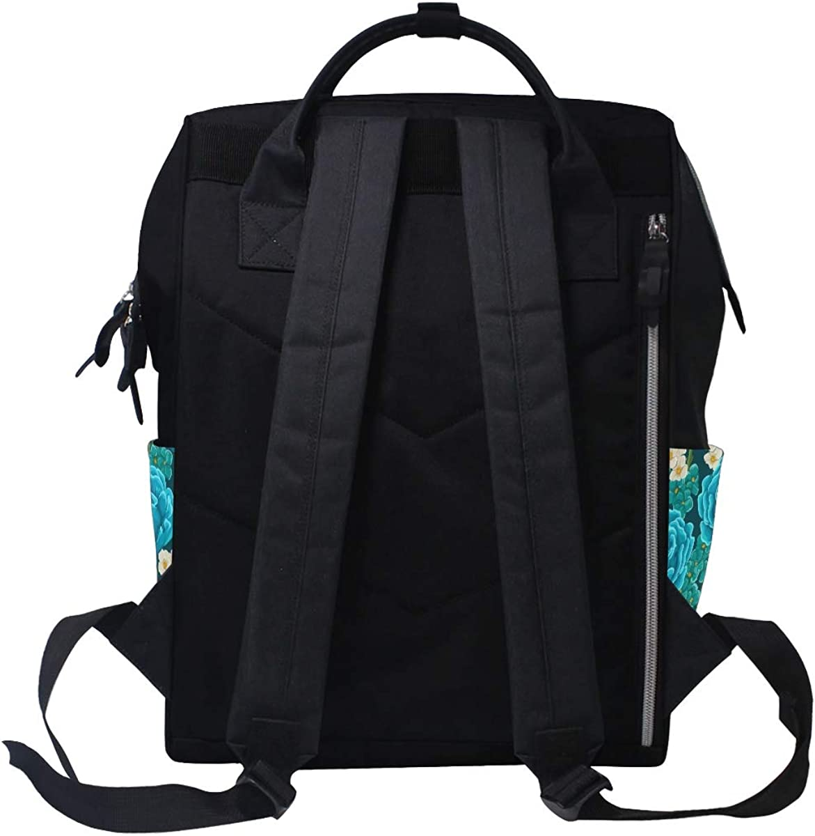 imobaby Beautiful Roses Flowers Changing Bags Large Capacity Handbags Canvas Shoulder Bag Backpack