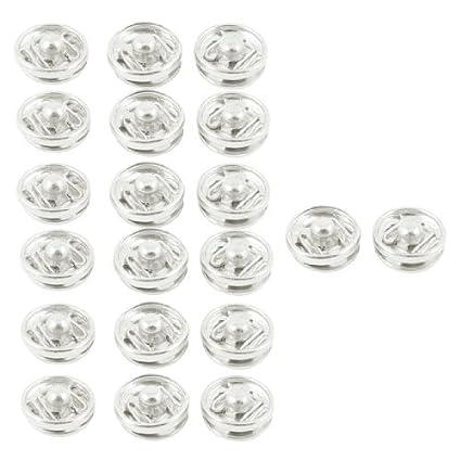 eDealMax Ropa del Metal de la capa Invisible botones de presión Botones 20 piezas de tono