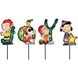 Product Works 8-Inch Pre-Lit Peanuts Christmas Joy Pathway Markers (Set of 4)