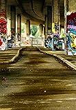 GladsBuy Roadside Graffiti Wall 6' x 9' Digital Printed Photography Backdrop KA Series Background KA118