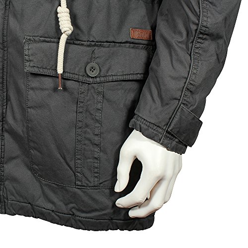 Gris Grey Dark Jacket Parka Grey Solid Probert Hombre 2890 Dark w4qfIF