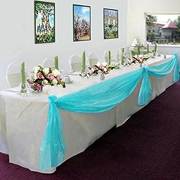 Amazon ourwarm 1pcs 5m135m sheer organza swag diy fabric ourwarm 1pcs 5m135m sheer organza swag diy fabric wedding top table decor junglespirit Image collections