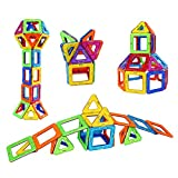 The Family Bunch Educational Magnetic Blocks with Travel Bag - Active learning toys and creative thinking with magnet tiles – Education building shape set - includes magnets wheels