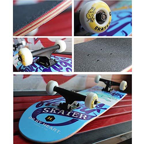 SMBYLL Professionelle Double-Warp-Longboard-Skateboard Jungen und Mädchen Skateboard Dance Board Anfänger Anfänger Anfänger Fähigkeiten grundlegende Skateboard-Größe beträgt 80 × 20 cm Skateboard (Farbe   C) B07Q19XVY6 Skateboards Hochw 437838