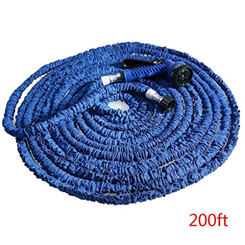 Miaomiaogo 175ft/200ft Expandable Garden Flexible Lightweight Watering Hoses and 7-in-1 Sprayer Head (175' Hose)
