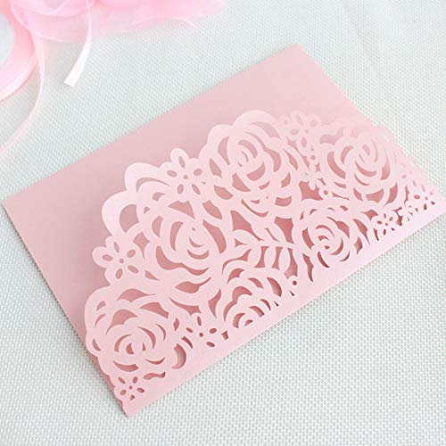 - Wedding Card - Wedding Gift Card - 3d Wedding Card - Rural Invitations Wedding Marriage Navy Blue Rose Laser Cut Tri-fold Pocket Envelop Multi Colors Offer Customized Servic.