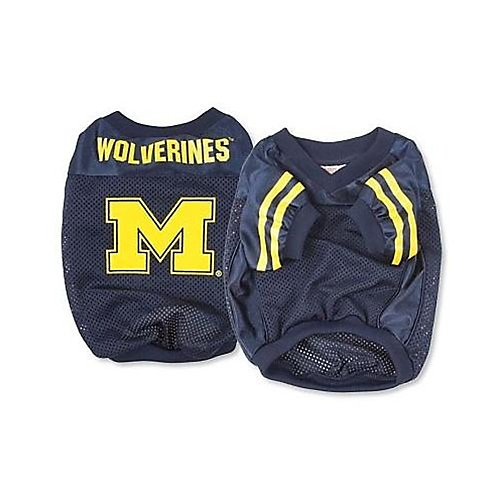 Sporty K9 Collegiate Michigan Wolverines Football Dog Jersey, X-Small